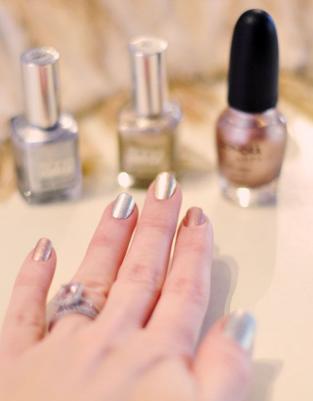 rose gold, white gold, yellow gold nails   Nails   Pinterest   Gold ...