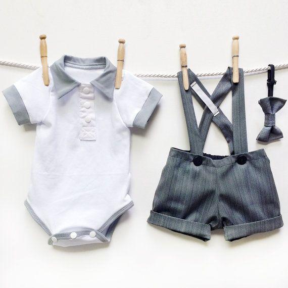 Boys Kids Children Toddler  Infant Solid Bowtie Pre Tied Wedding Bow Tie HICA