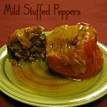 Stuffed Green Peppers Triple Chocolate Kitchen Recipe Stuffed Peppers Betty Crocker Recipe Cards Betty Crocker Recipe Card Library
