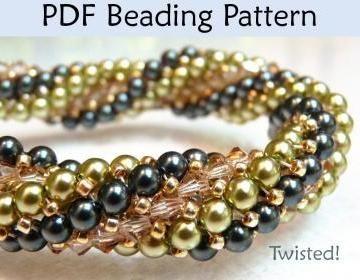 Bracelet Beading Pattern, Herringbo..