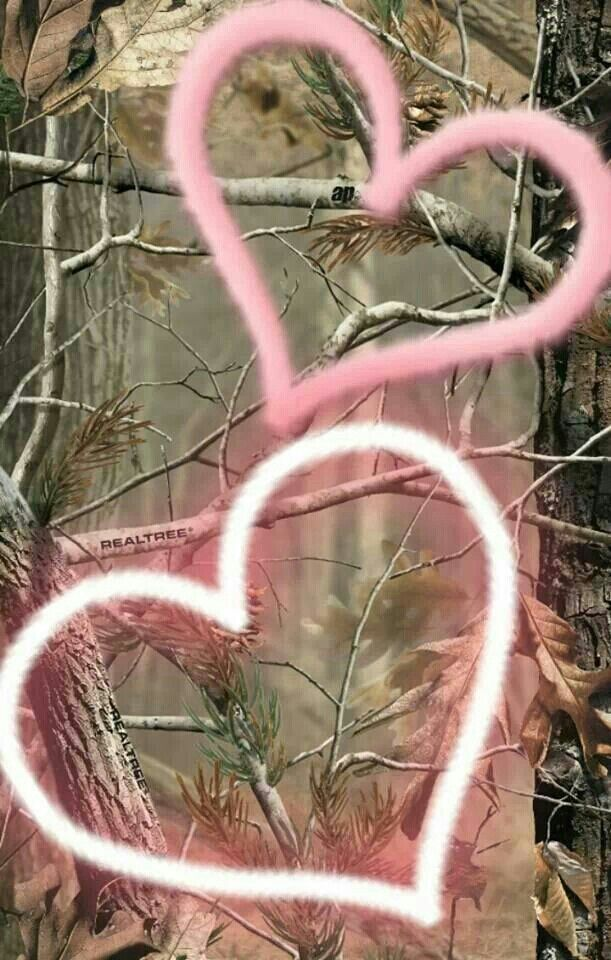Muddy Girl Cell Phone Wallpaper Heart Camo Camouflage In 2019 Pink Camo Wallpaper