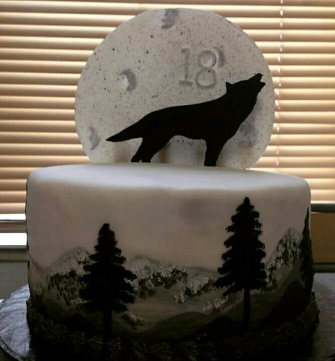Wolf Cake Decorated Cakes Only Pinterest Wolf Cake