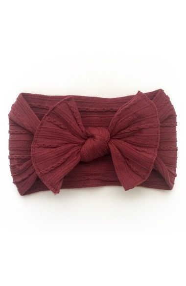 Baby Bling Cable Knit Bow Headband (Baby Girls) available at  Nordstrom 25c9e64e669