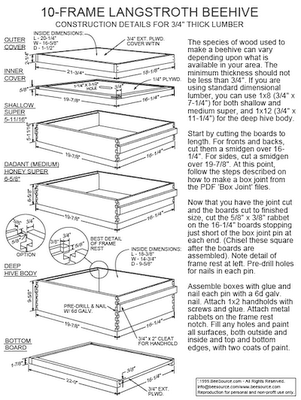 Woodware Buy Or Build Bee Hive Plans Bee Keeping Bee Hive