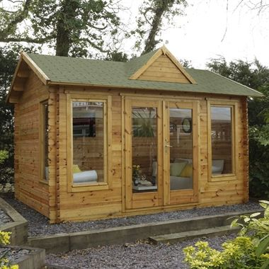 4 x 3m virginia 34mm log cabin - Garden Sheds Virginia