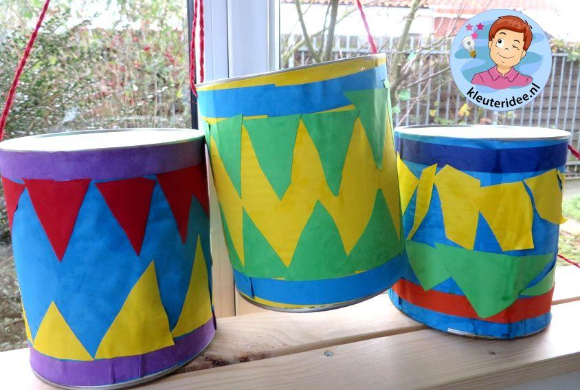 Super Trommels maken met kleuters 2, thema muziek, kleuteridee.nl #AG09