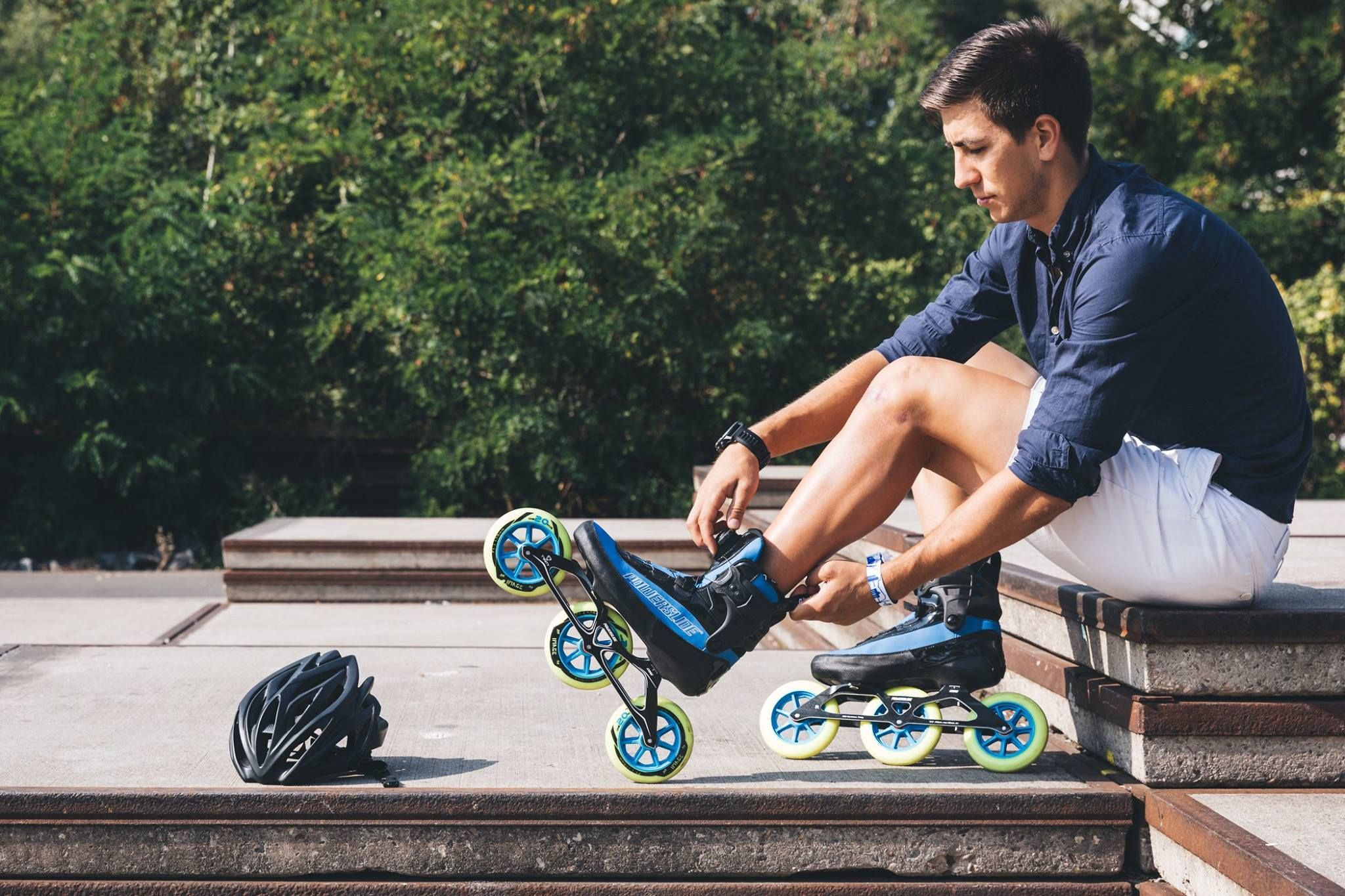 Convenience At Its Best The New Powerslide World Cup Triskates Have The Super Easy Atop Lacing System Just Put On T Rollerblading Inline Skating Skateboard