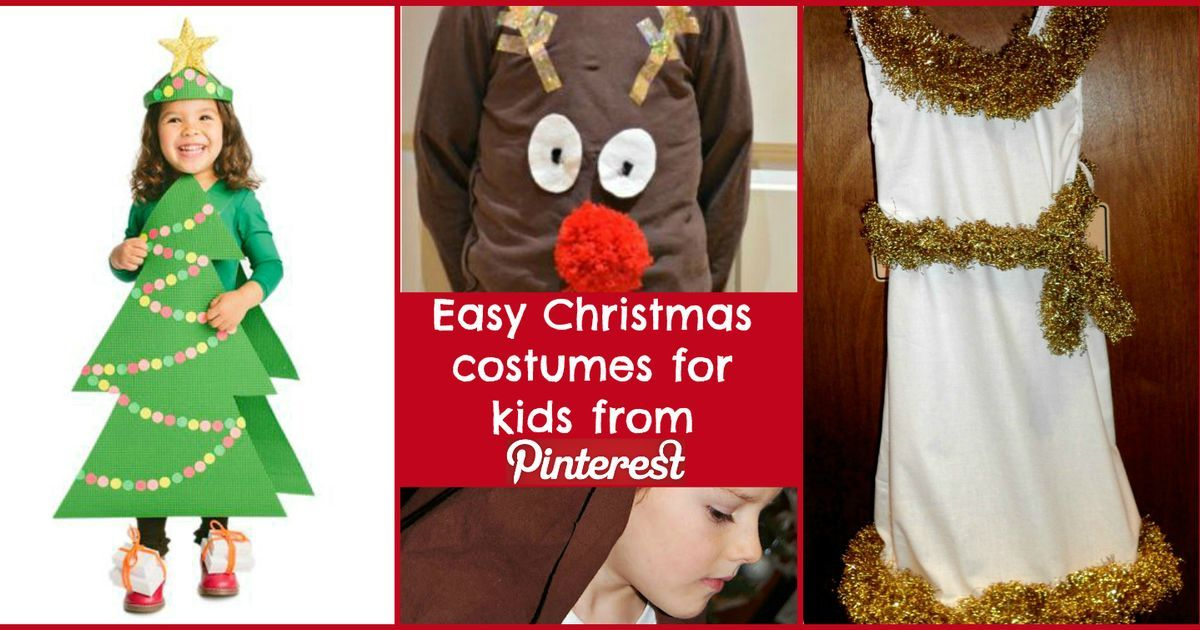 Check out these easy Christmas costumes for kids from