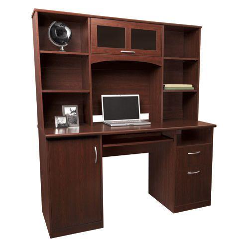 landon desk with hutch cherry house and home desk hutch rh pinterest com