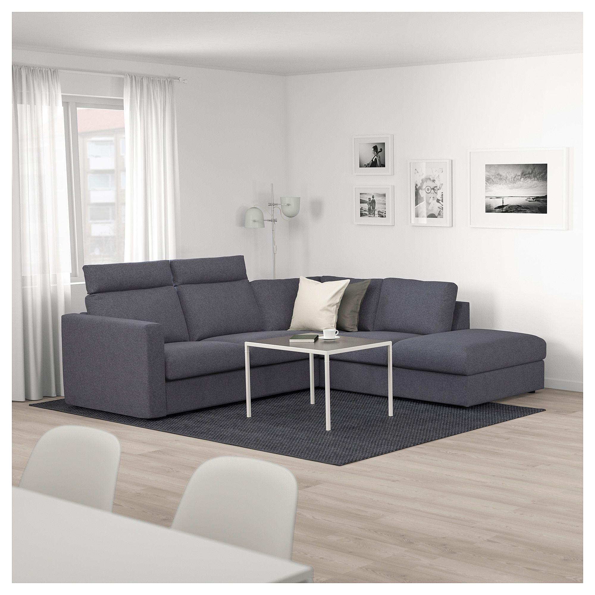 Vimle Canape 3 Places Avec Meridienne Avec Appuie Tete Gunnared Gris Moyen Ikea Ikea Vimle Sofa Modular Corner Sofa Ikea Sofa