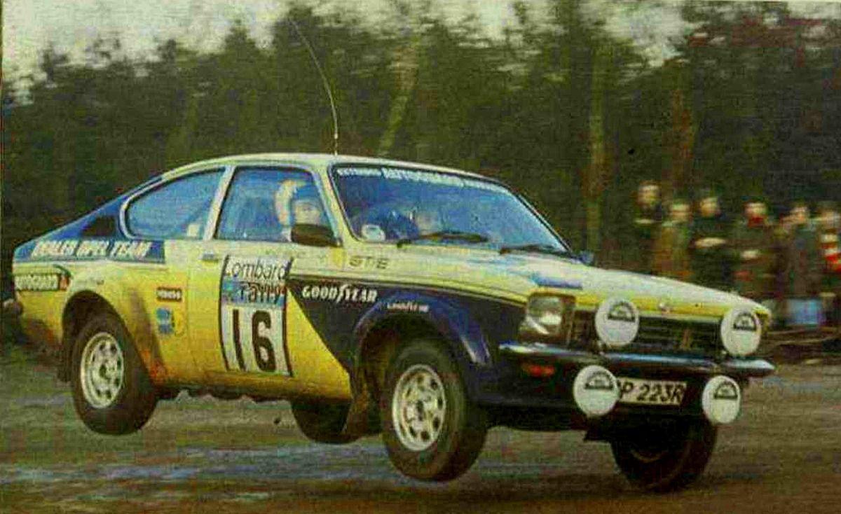 1977 rac rally danielsson bror broad mike opel kadett gt e