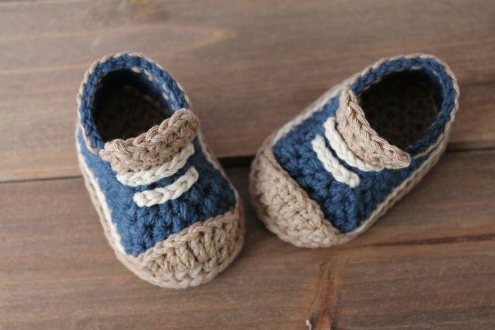 Crochet Baby Schuhe Jungen Pastellfarben Kinder Hausschuhe