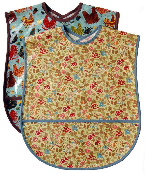 2 Extra Large Adult Bib Set Choose any 2 Fabrics by bibbitybibs, $34.00