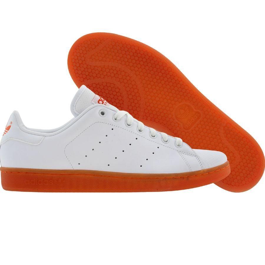 adidas Stan Smith Mens Trainers in White Orange