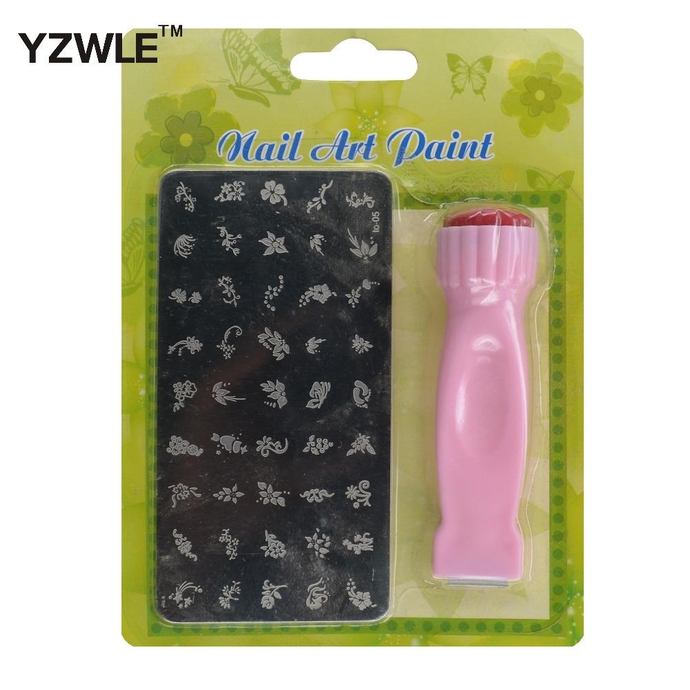 1.06$ Buy here - 1 Set Nail Art Stamping Set Stamp Nail Art Kit 2 ...