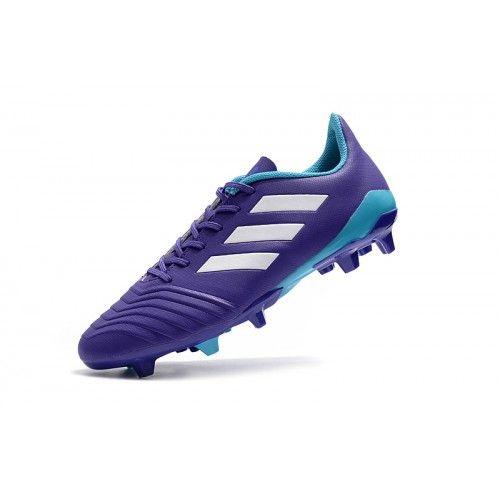 Jabeth Wilson diamante Onza  Botas De Futbol Baratas 2018 Adidas Predator 18.4 FxG Purpura Azul Outlet   Adidas  predator, Adidas, Purple