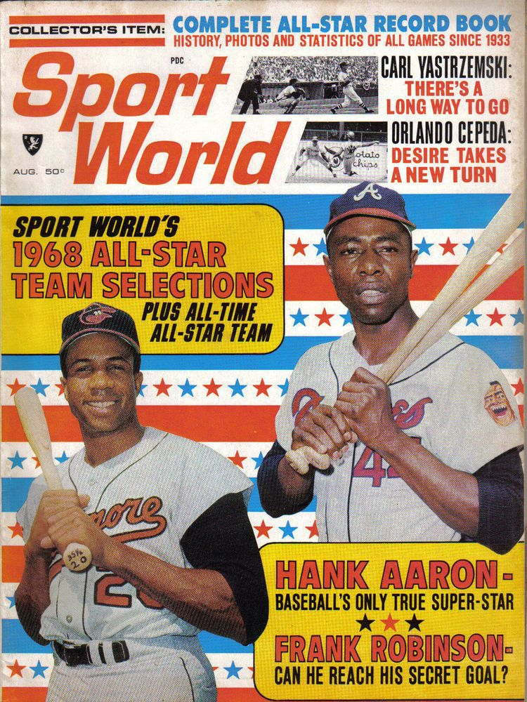 1968 Sport World baseball magazine Hank Aaron, Braves