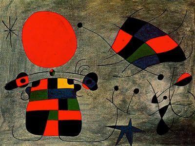 La sonrisa de las alas flameantes by Joan Miró