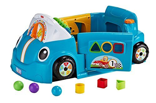 Fisher Price Laugh Learn Smart Stages Crawl Around Car Puts Baby In The Driver S Seat Of A Stationary Car That Toddler Toys Fisher Price Toys For 1 Year Old