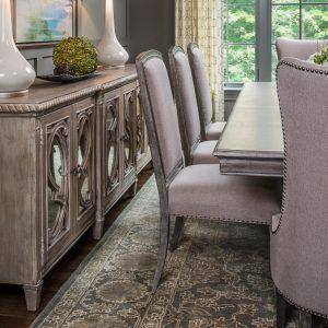 Grey Glam Dining Room - Providence Plantation Project - Lauren Nicole Designs - Interior Design in Charlotte, NC