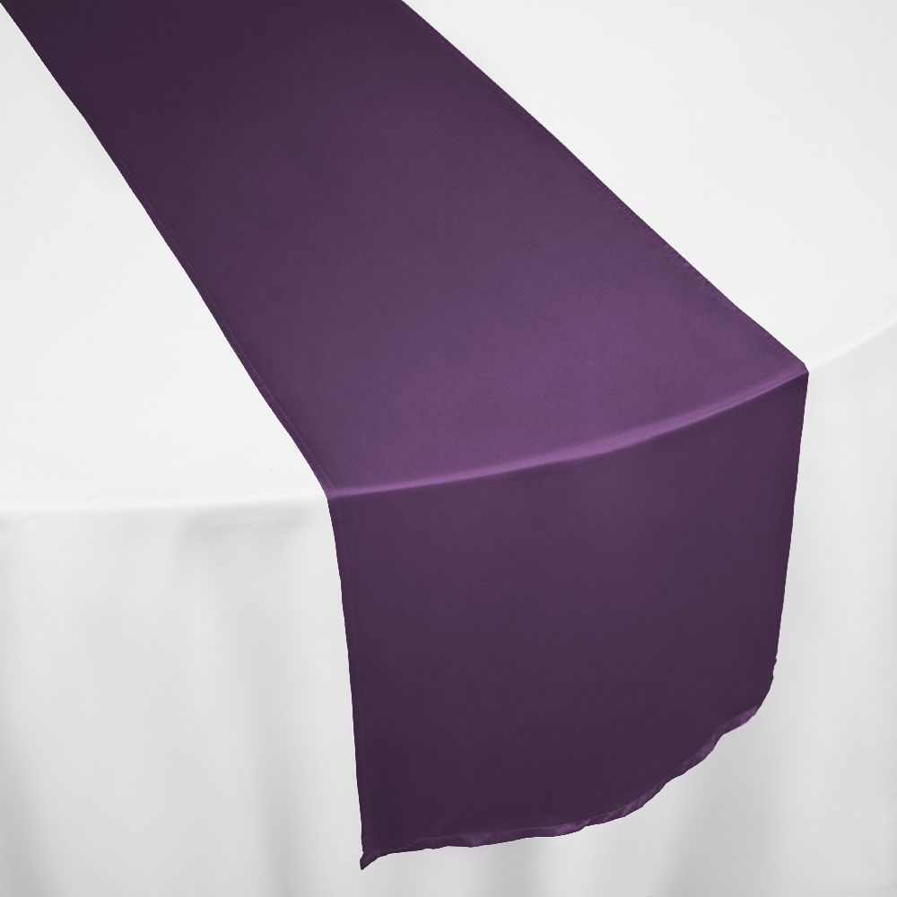 Eggplant Duchess Satin Table Runner By Chair Covers U0026 Linens