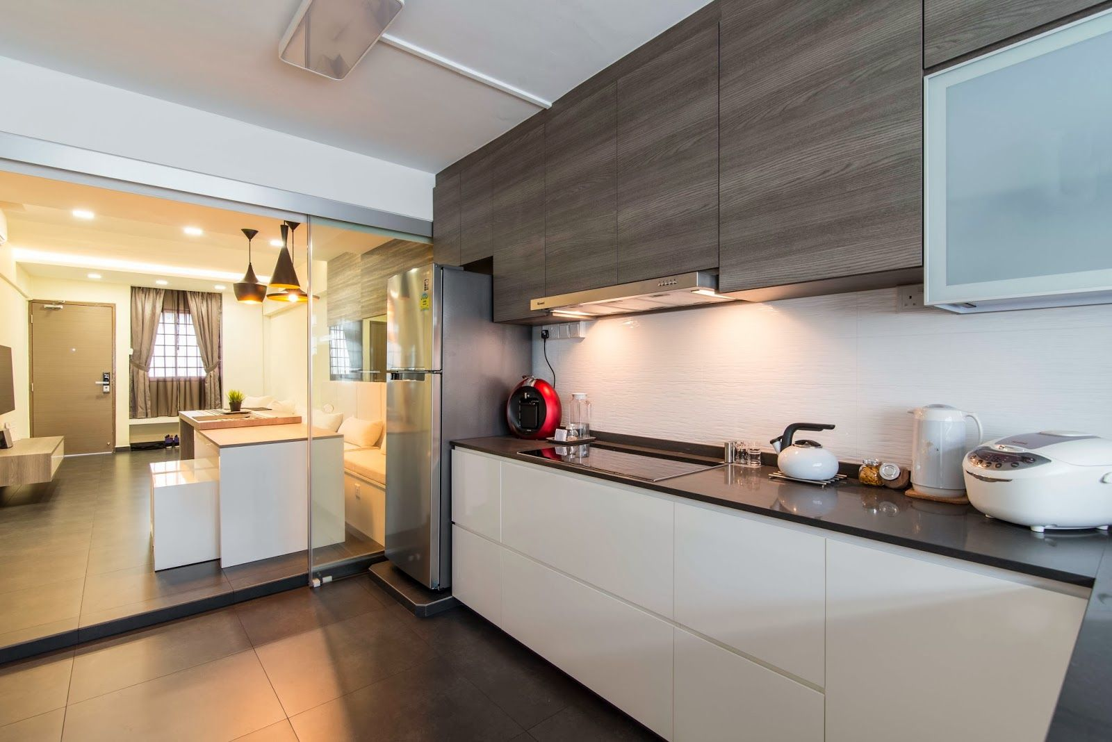 Interior Design Guide HDB 3 rooms Interior Design Grey Kitchens