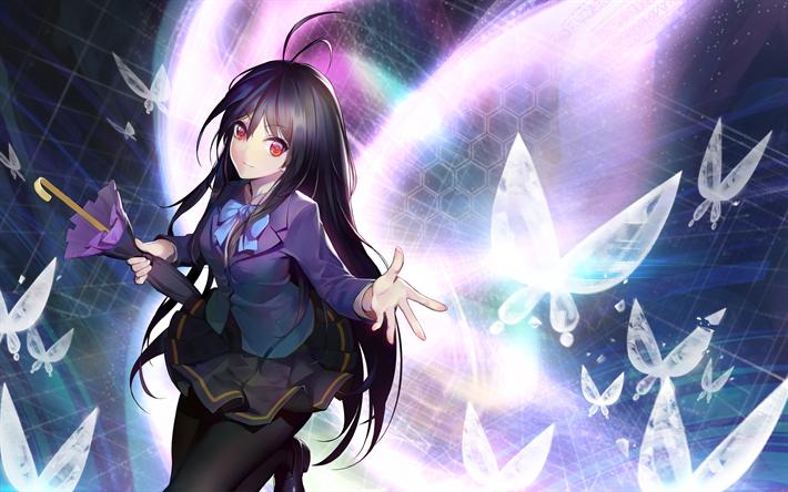 Download wallpapers Kuroyukihime, 4k, Princess Snow Black