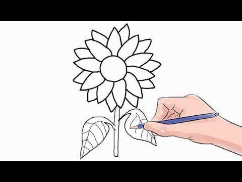 Dibujar Un Girasol Sencillo Paso A Paso Con Imagenes Girasoles