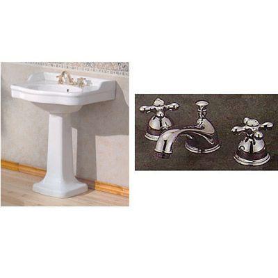 Cheviot White Antique Pedestal Sink