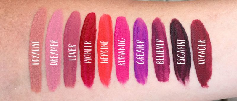 Maybelline Superstay Matte Ink Liquid Lipstick Swatches Lover