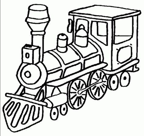 Coloring Pages For Kids Trains | Omalovánky pro prcky | Pinterest ...