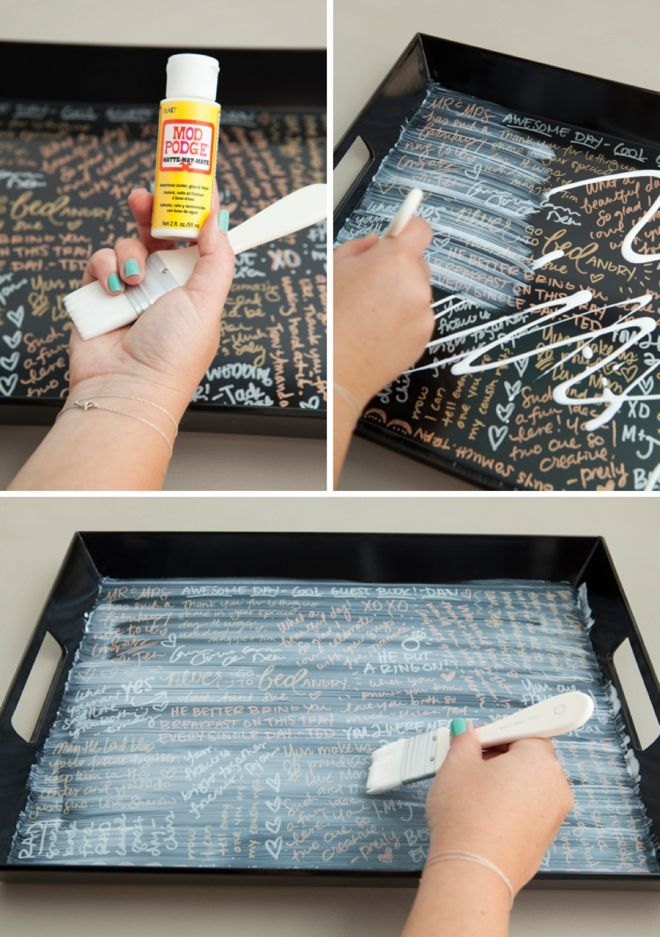 Make Your Own Resin Coated Guest Book Serving Tray! | DIY ideas ...