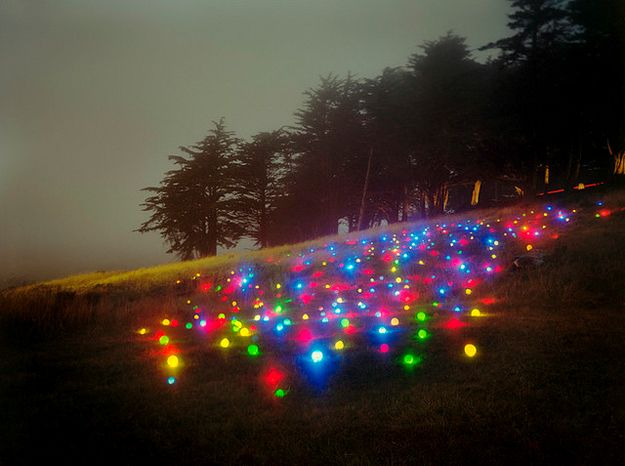 Landscape Light Sculptures Artist Barry Underwood Photographs Wonderfully Mysterious Installations That He Installs On Site In Forests