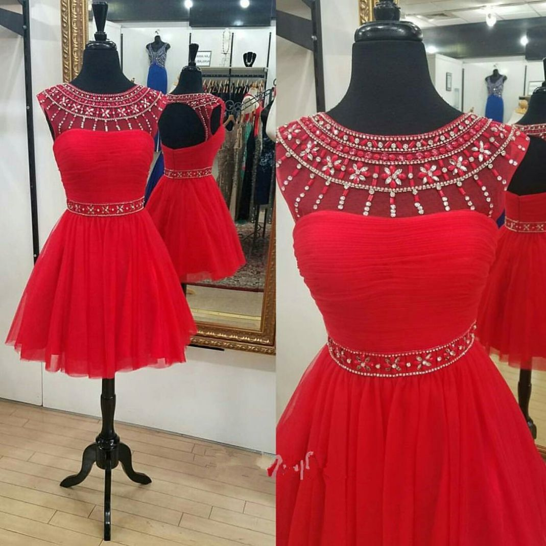 Red dress prom dress homecoming dress party dress red prom dress