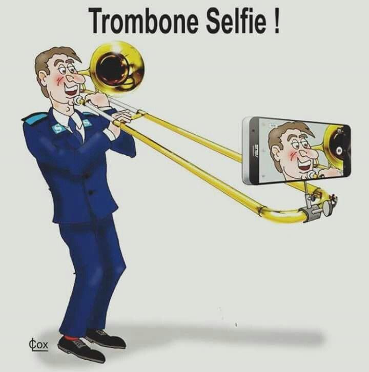 Trombone Selfie Music Jokes Trombone Music Trombone