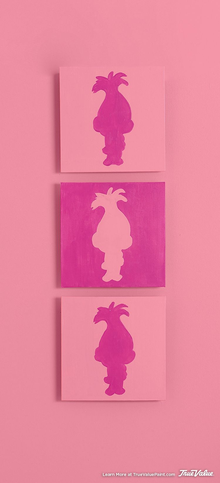 Trolls Bedroom Ideas: Create This DIY Wall Art Using DreamWorks Trolls Character