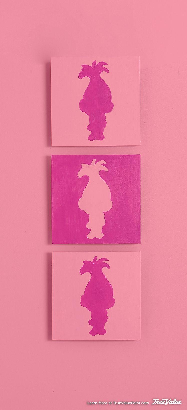 Girls Trolls Bedroom: Create This DIY Wall Art Using DreamWorks Trolls Character
