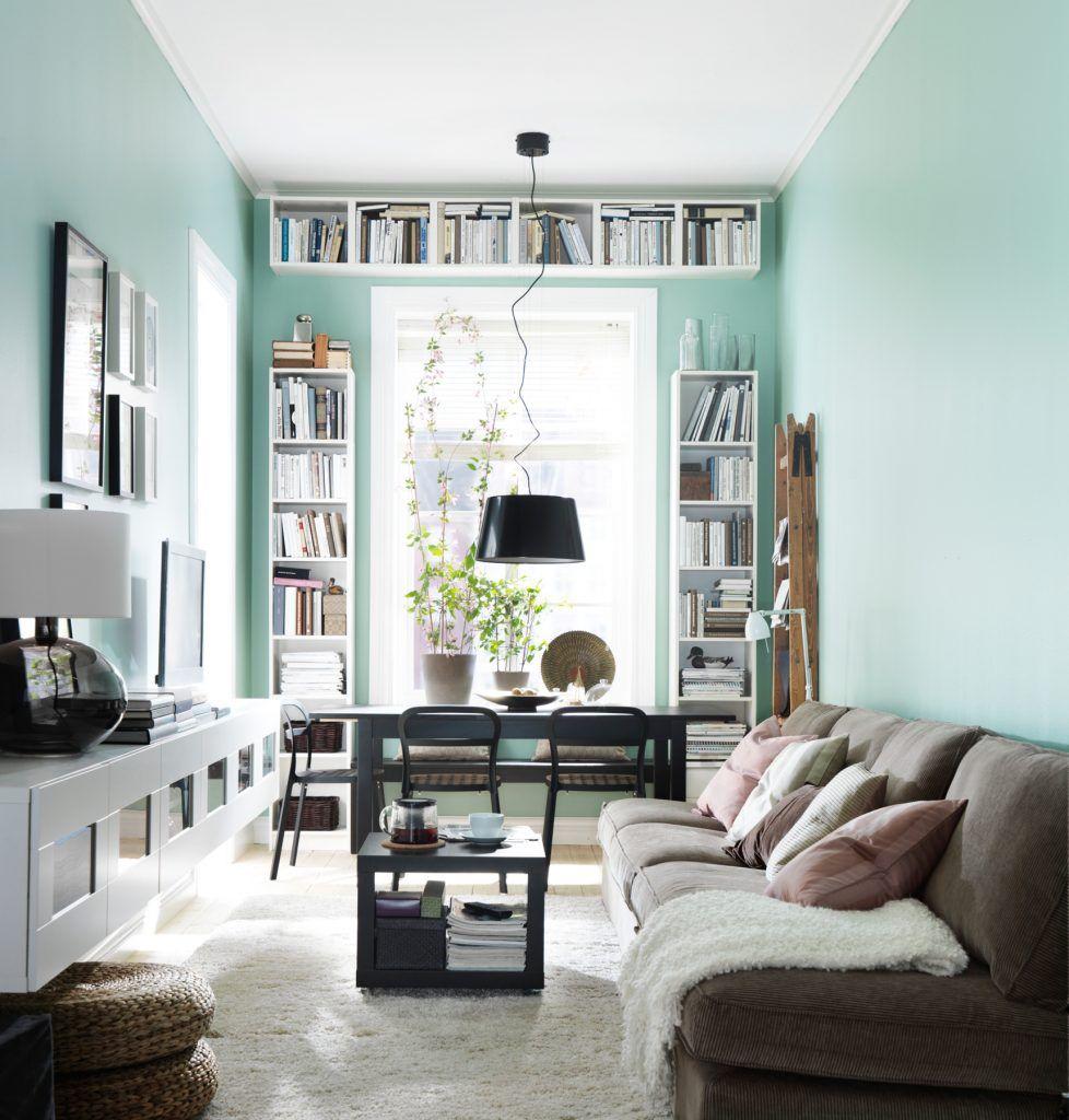 Smalle woonkamer inrichten | Woonideeën modern smal huis | Pinterest ...
