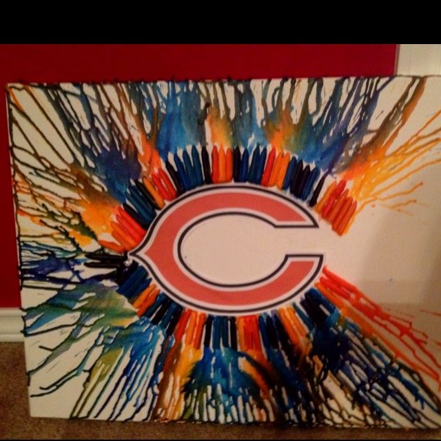 Painting Idea Chicago Bears Men Cave And Football Rooms