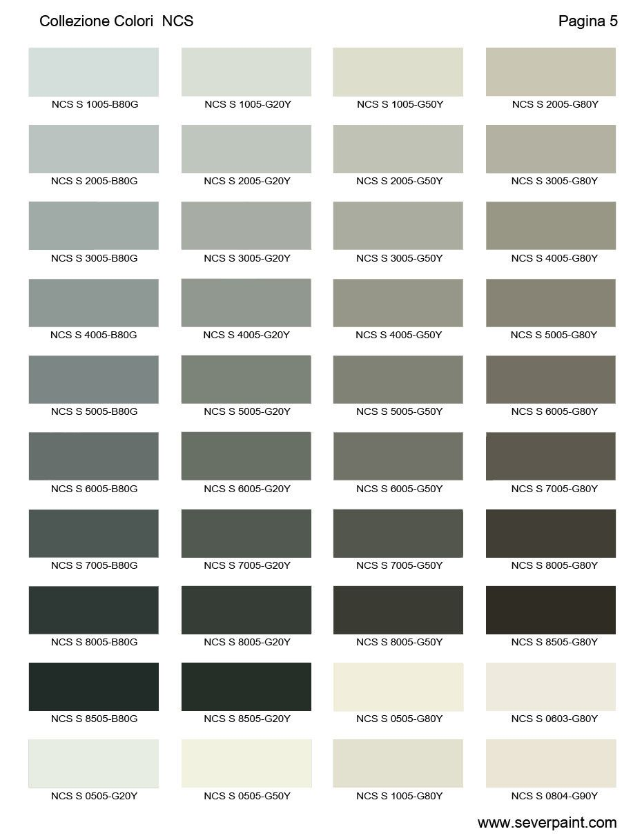 cartella colori ncs 1950 severpaint colori e vernici colori muri pinterest h uschen. Black Bedroom Furniture Sets. Home Design Ideas