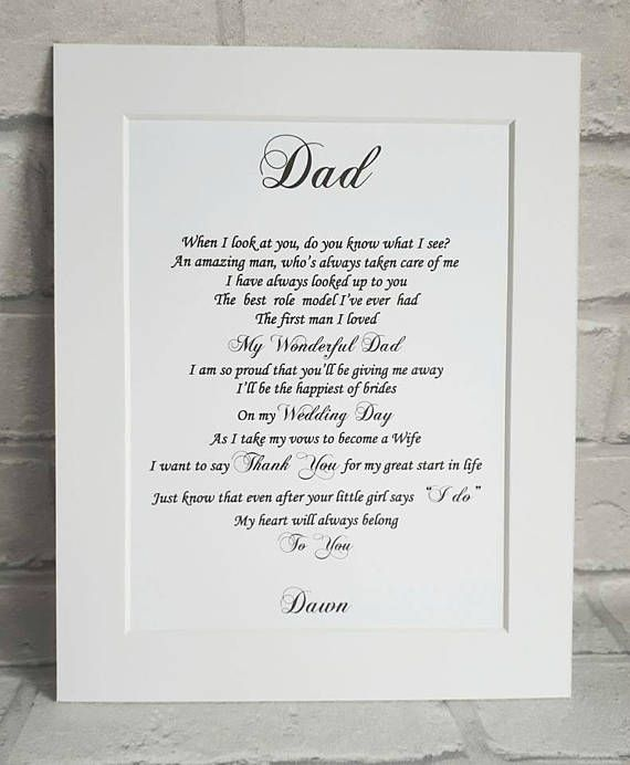Check Out This Item In My Etsy Shop Https Www Etsy Com Uk Listing 462109968 Father Of The Br Daughter Wedding Gifts Father Daughter Wedding Wedding Day Gifts
