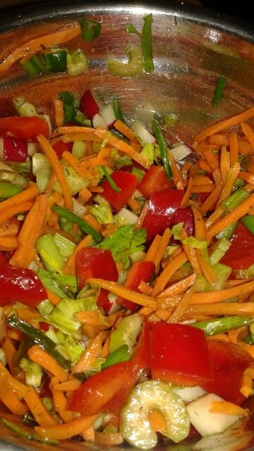 I wish it we re summer salad with Asian dressing