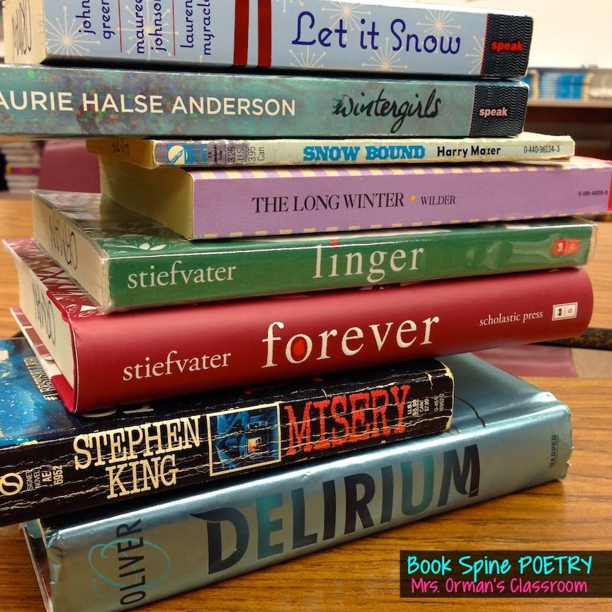 Poet Author Creative: Book Spine Poetry: Using The Titles Of Books To Write