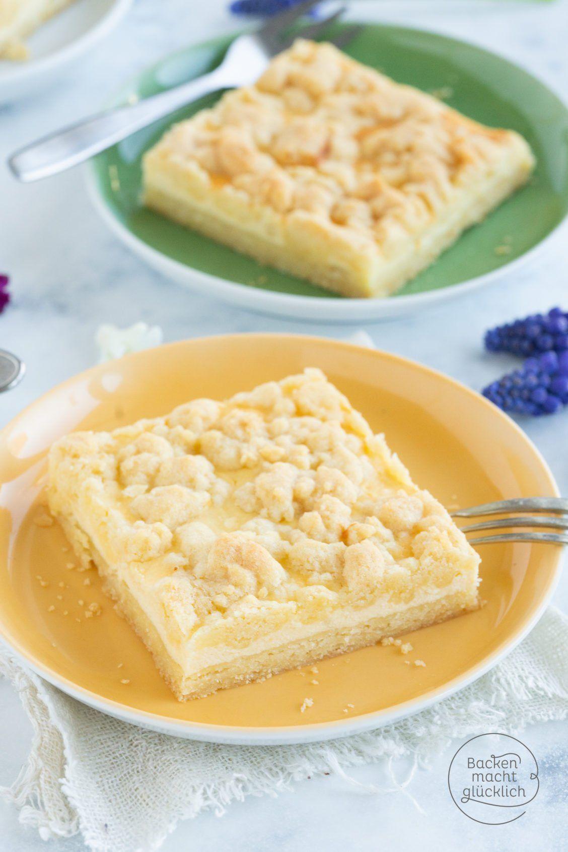 Käse-Streusel-Kuchen vom Blech | Backen macht glücklich