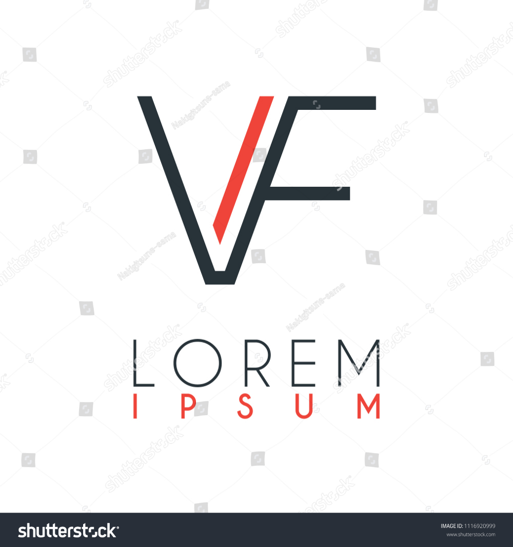Logo Between Letter V Letter F Stock Vector Royalty Free