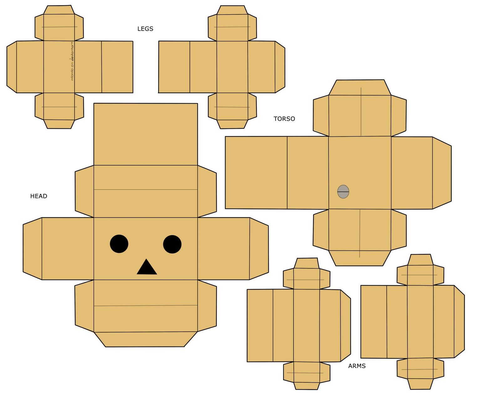 really cool a danbo box template pd