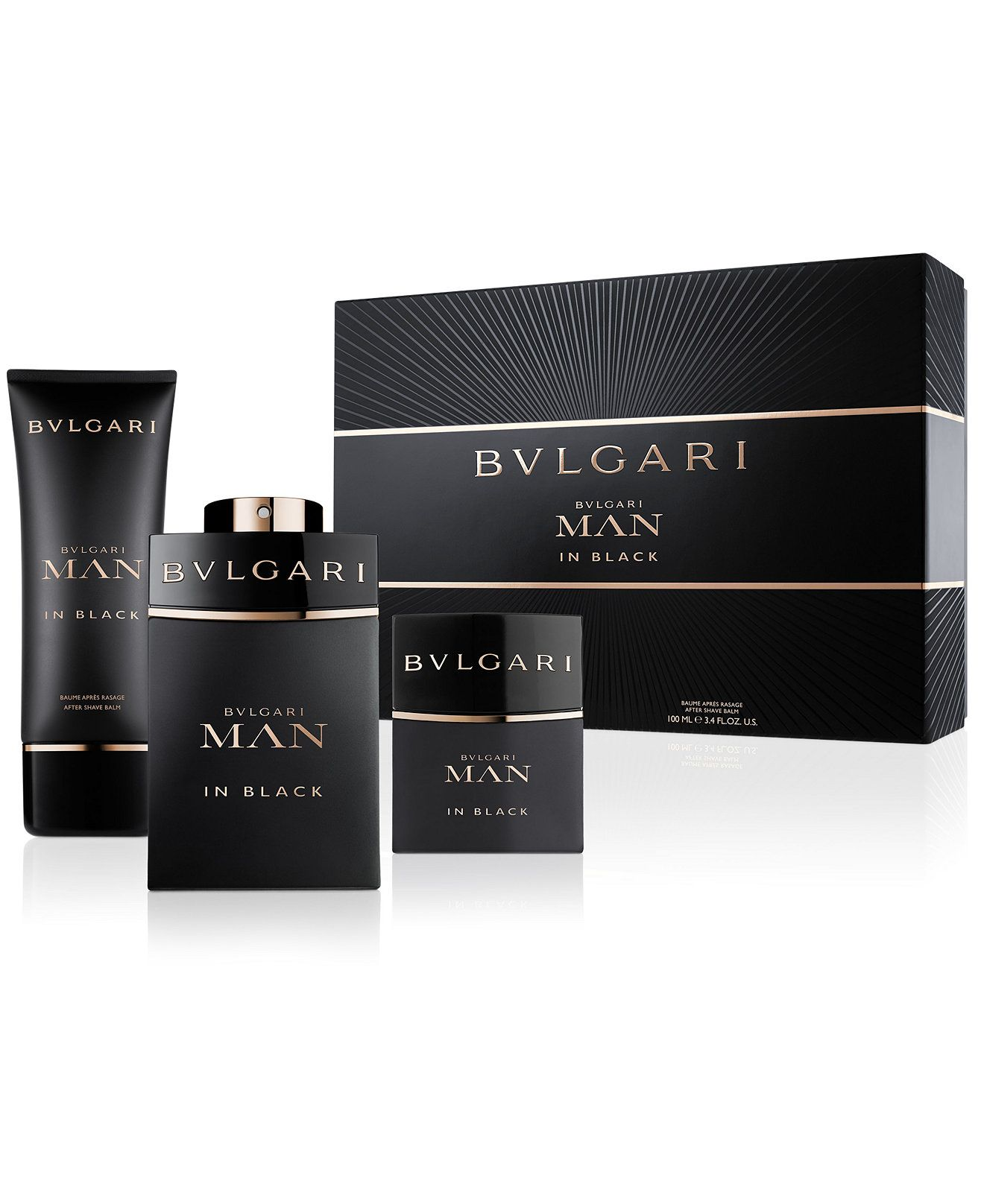 Bvlgari Man In Black Premium Gift Set Shop All Brands Beauty Macy S Bvlgari Man In Black Bvlgari Fragrance Best Perfume For Men