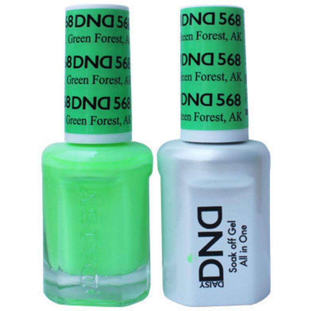 DND Duo GEL Pack - GREEN FOREST, AK / 1 Gel Polish 0.47 oz. + 1 ...