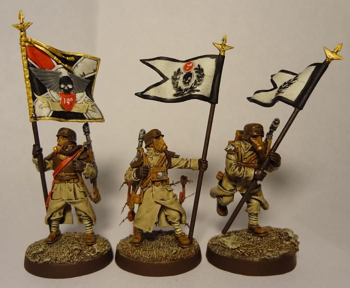 Astra Militarum 40K Imperial Guard Cadian Command STANDARD A FLAG