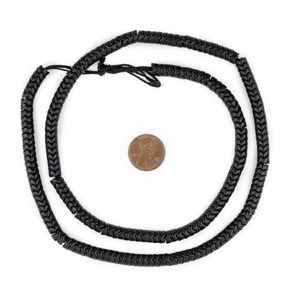Photo of 210 Black Resin Snake Beads 7mm: Ungewöhnlich geformte Perlen Black Resin Beads Resin Spacer Beads Ethnic Sp. Z oo